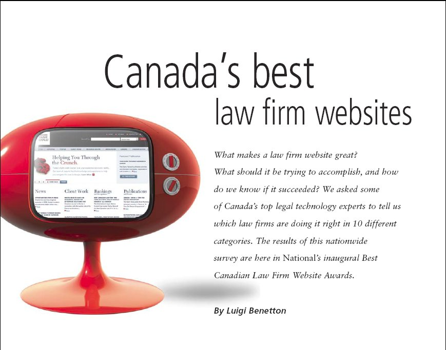 Where are Canada's Best Law Firm Websites?