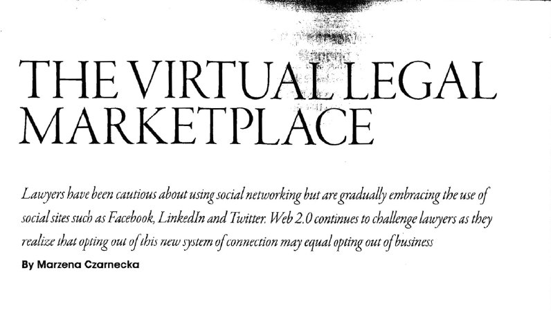 Quoted in Lexpert Magazine