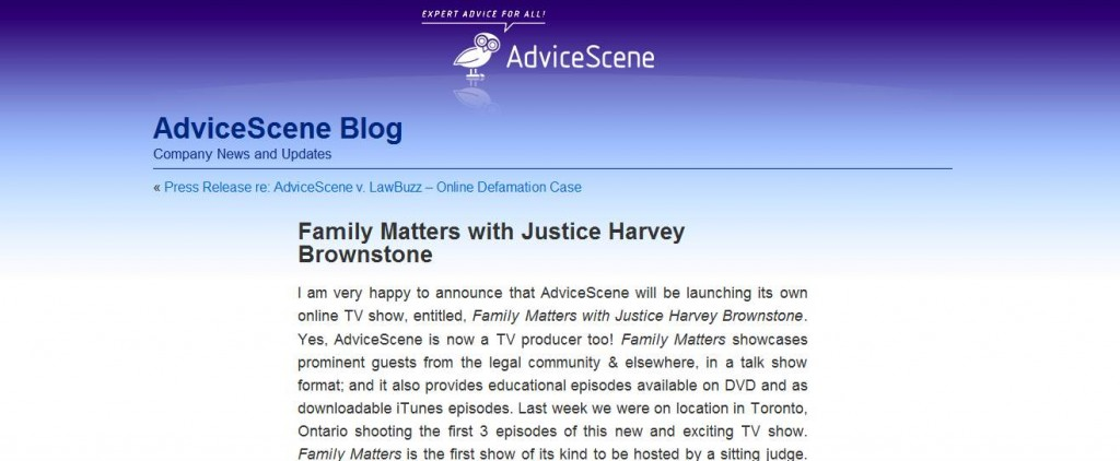 Family Matters Announcement on Advice Scene