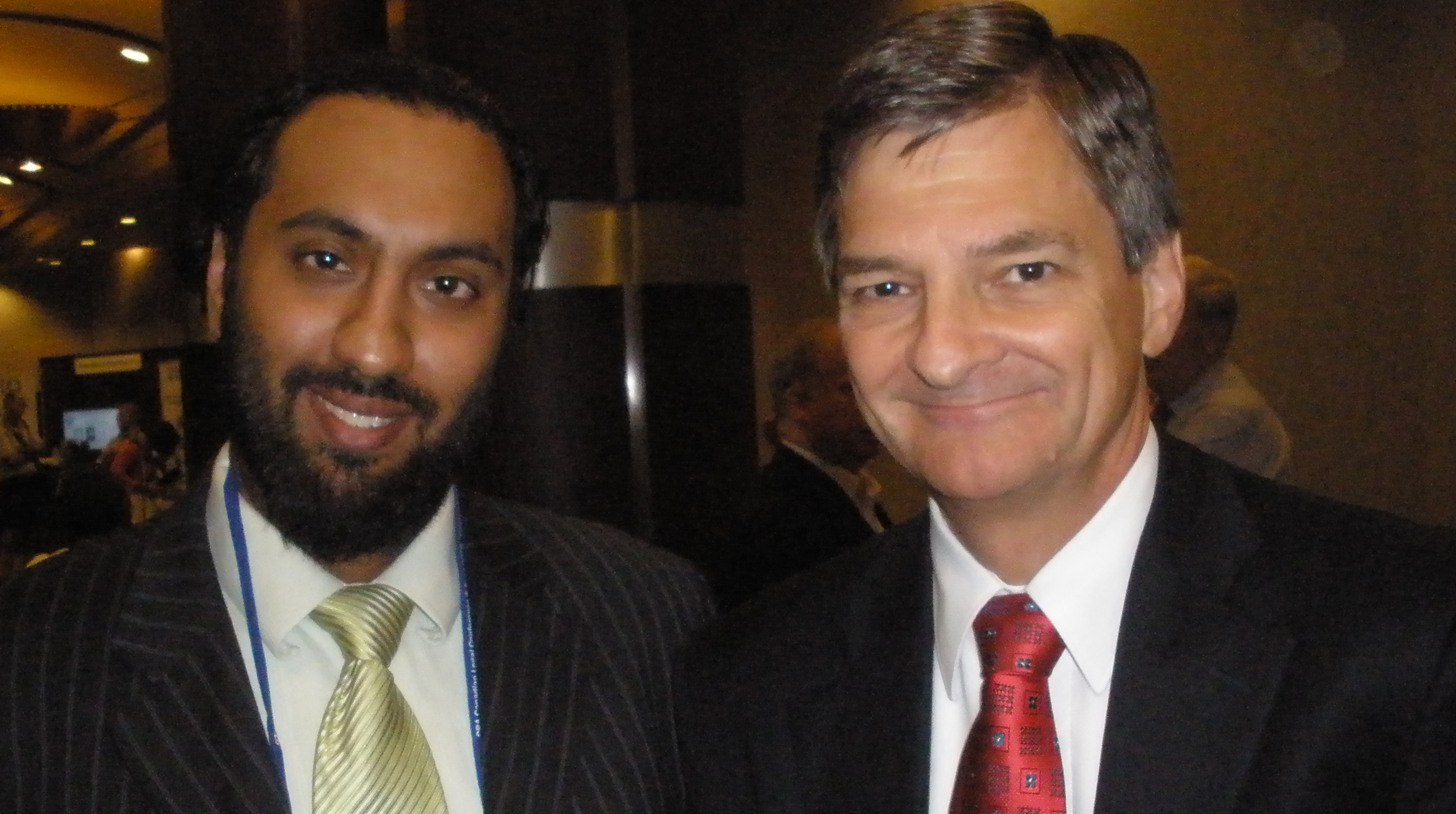 Omar Ha-Redeye with Hon. Christopher Bentley, Attorney-General of Ontario