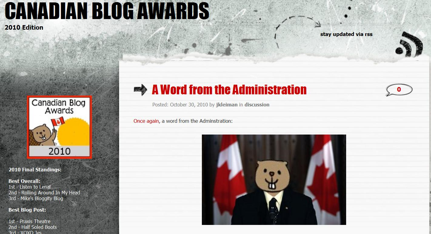 2010 Canadian Blog Awards