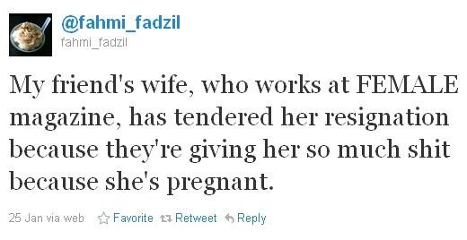 Fahmi Fadzil's Twitter Apology