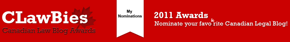 2011 CLawBies Nominations