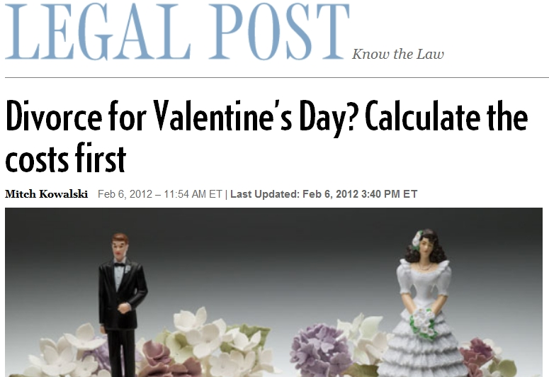 Calculate the Cost of a Divorce