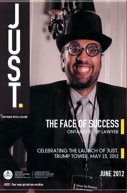 "Mock up of the Ontario Bar Association ""Just"" Magazine"