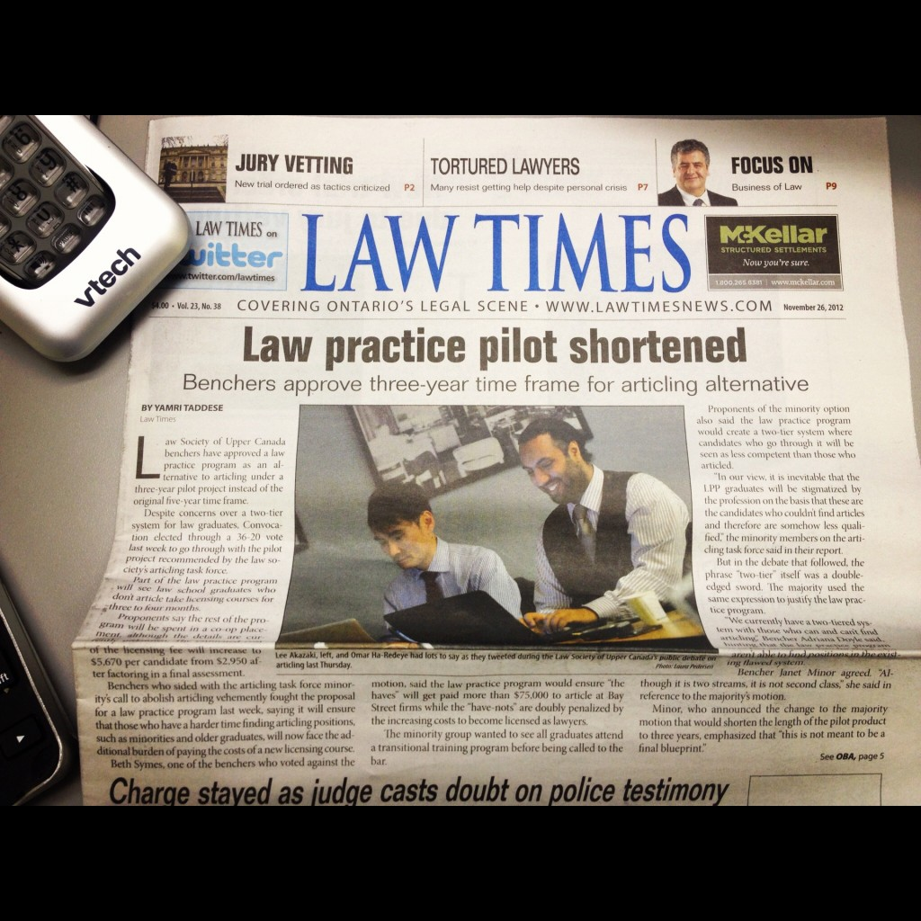 Law Times on  Legal Practice Program