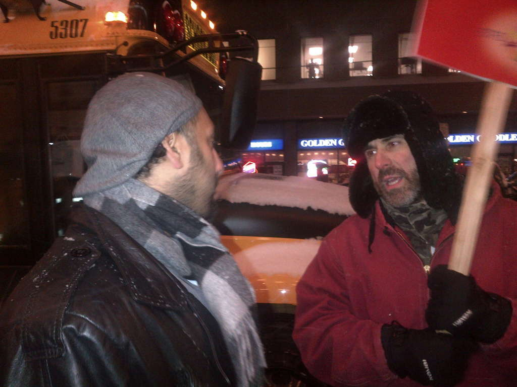 Omar Ha-Redeye speaking to protester2