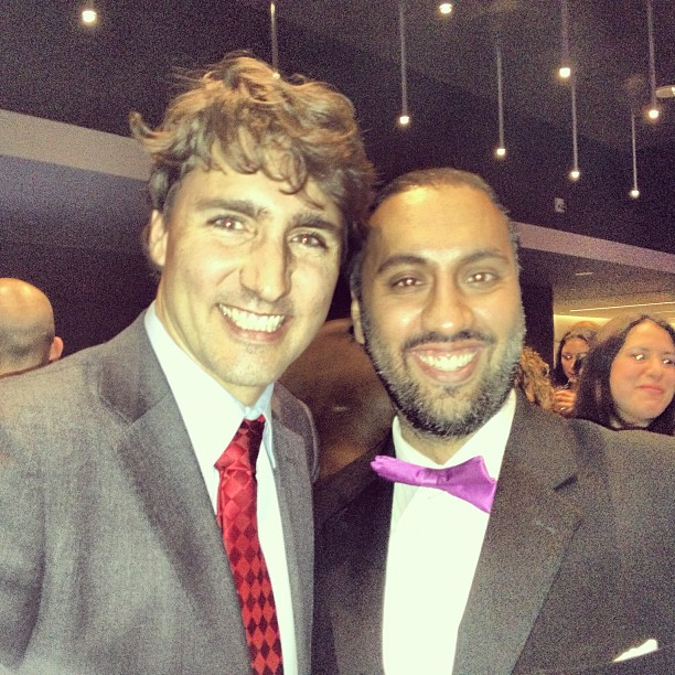 Justin Trudeau and Omar Ha-Redeye