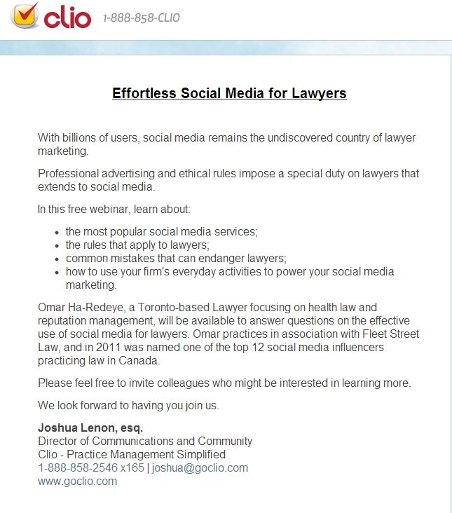 Free Webinar: Effortless Social Media for Lawyers