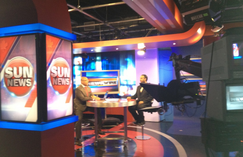 Omar Ha-Redeye on Sun News Network with Brian Dunstan