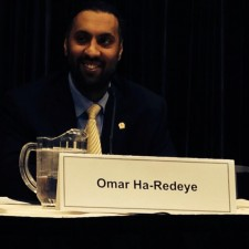 Omar Ha-Redeye speaking at the Ontario Bar Association