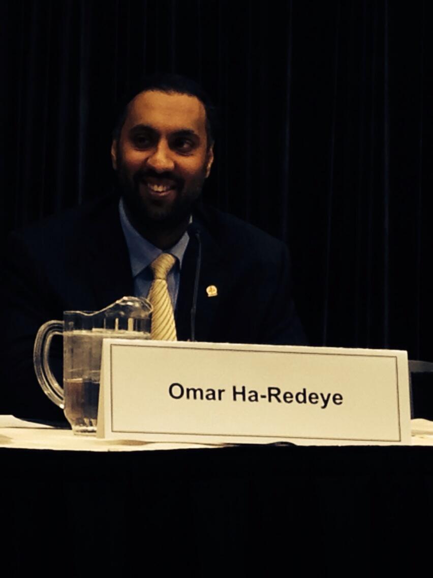 Omar Ha-Redeye speaking at the Ontario Bar Association