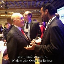 Omar Ha-Redeye with Chief Justice Warren K. Winkler (Advocates)