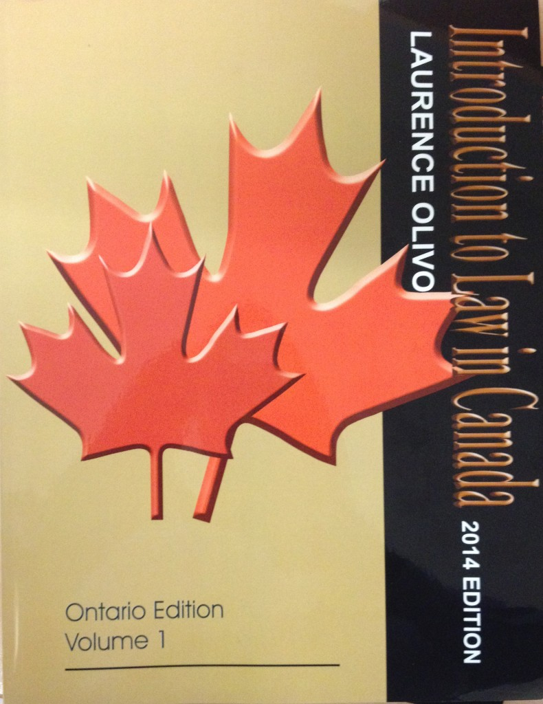 Introduction to Law in Canada (Olivo)